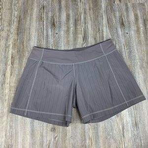 Lululemon Athletica Gray Stripe Shorts Size M